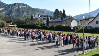 Feuerwehrübung Kreisschule Thal im Schulhaus Falkenstein