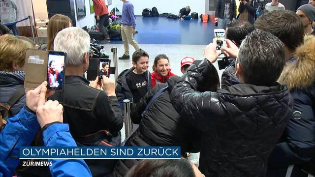 Schweizer Olympia-Helden kommen heim