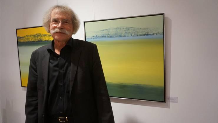 Rainer Oberhänsli-Widmer vor seinem Lieblingsbild «Horizont».