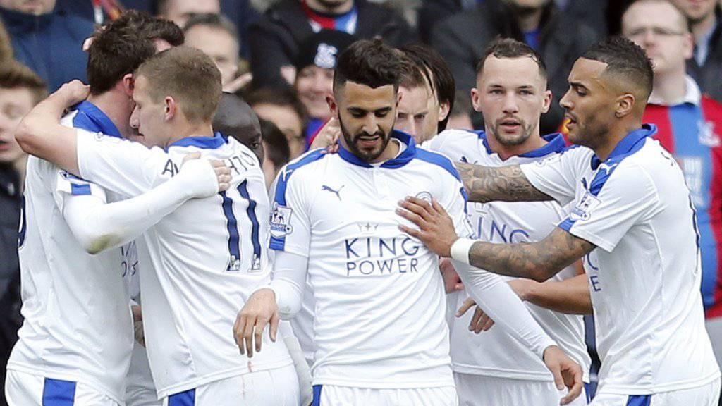 Riyad Mahrez schoss Leicester City zu einem weiteren Sieg