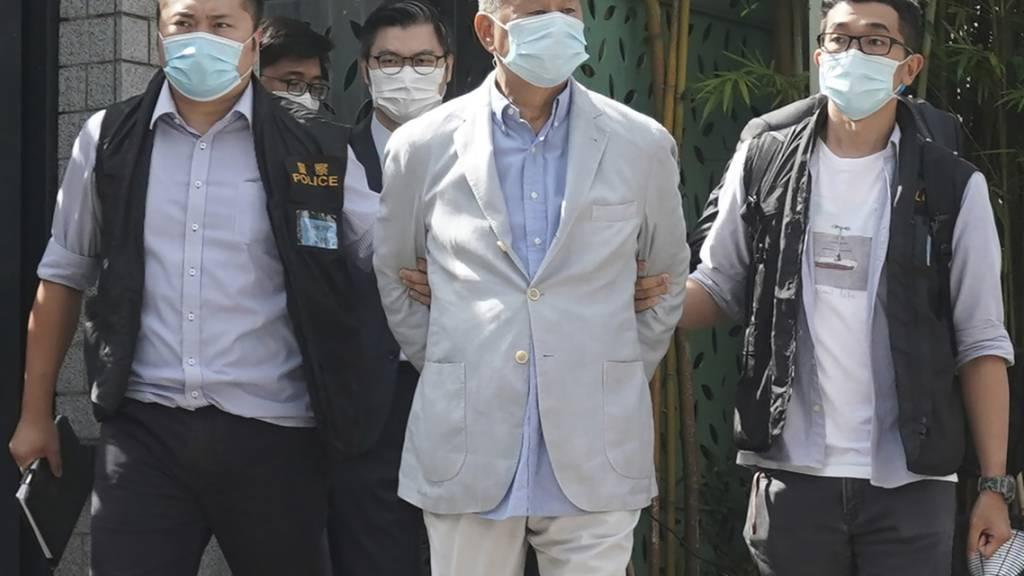 Sicherheitsgesetz: Verleger Jimmy Lai in Hongkong festgenommen