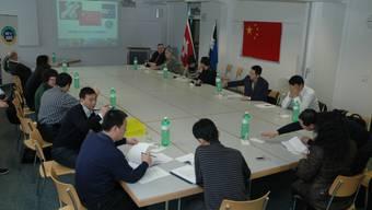 Die chinesische Delegation besucht den Bevölkerungsschutz Aarau