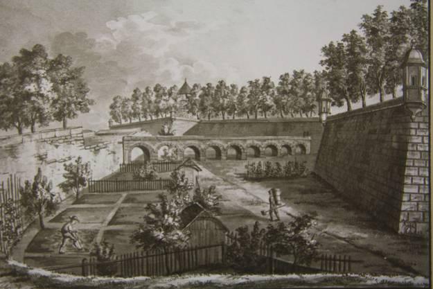 Der Stadtbach wurde zur Zeit der Schanzen über einen Äquadukt in die Stadt geführt