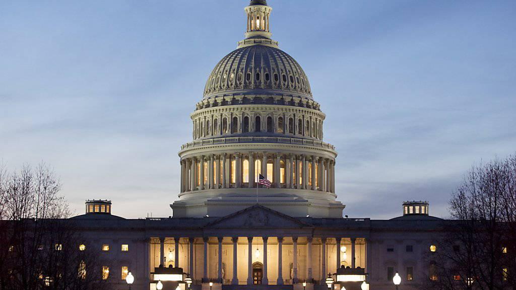 Der US-Senat hat sich in einem historischen Entscheid gegen Lynchmorde ausgesprochen und ein entsprechendes Gesetz verabschiedet. (Archivbild Kapitol in Washington)