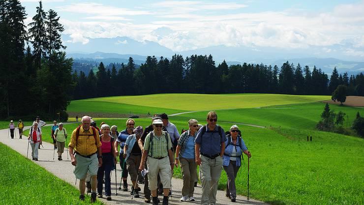 """Wanderland Emmental """"Natur pur"""": Abwechslungsreiche Landschaft und herrliches Alpenpanorama"""