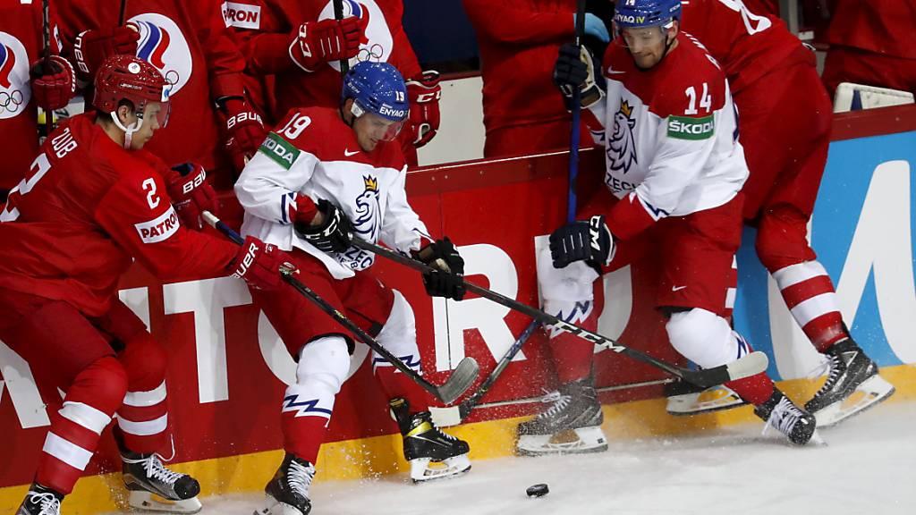 Tschechien lieferte sich am Freitag schon mit Russland (3:4-Niederlage) einen heissen Tanz