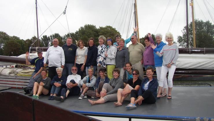 Gruppenbild auf der Gaia.