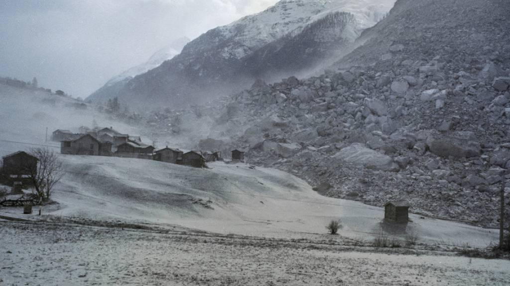 Vor 30 Jahren verschüttete ein Bergsturz einen Teil von Randa