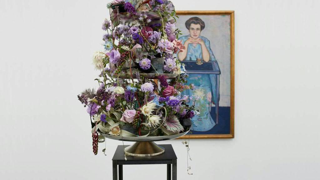 Eine florale, duftende Interpretation zum Werk «Dame im Kimono» von Otto Wyler im Aargauer Kunsthaus.