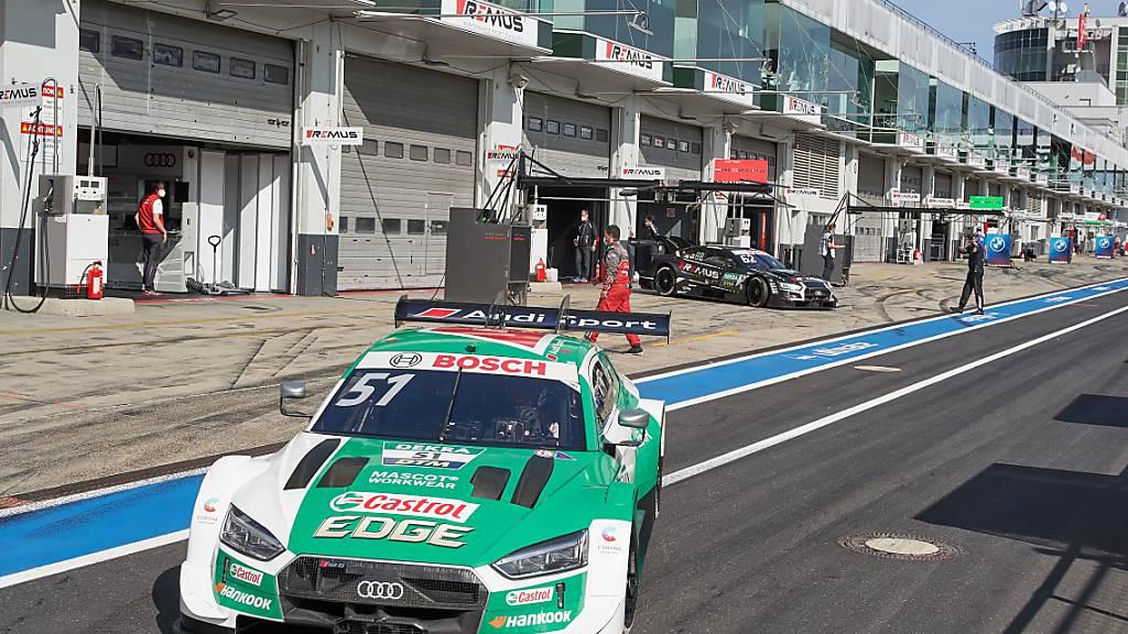 Nico Müller darf vor dem letzten DTM-Saisonrennen weiter auf den Titelgewinn hoffen