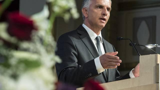 Bundesrat Didier Burkhalter bei einem Auftritt in Bern (Archiv)