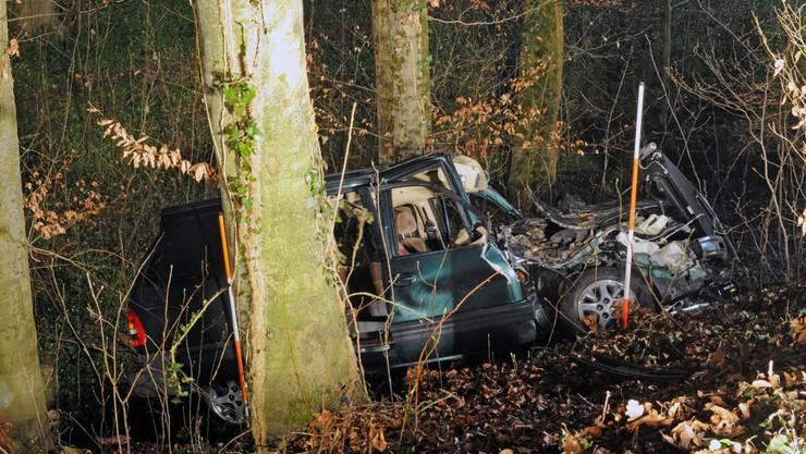 Auto fährt in Wangen in einen Baum