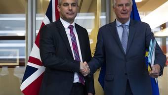 """Gemäss EU-Diplomaten haben EU-Chefunterhändler Michel Barnier und der britische Brexit-Minister Stephen Barclay am Freitagvormittag in Brüssel ein """"konstruktives Gespräch"""" geführt."""