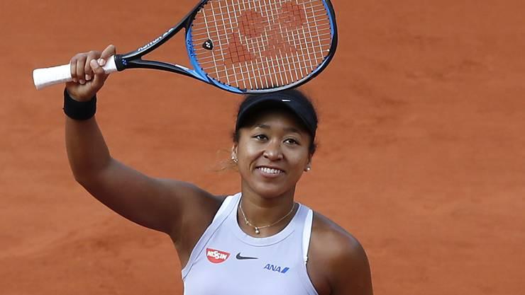 Naomi Osaka konnte nach einem schwierigen Start ins Turnier erleichtert lächeln
