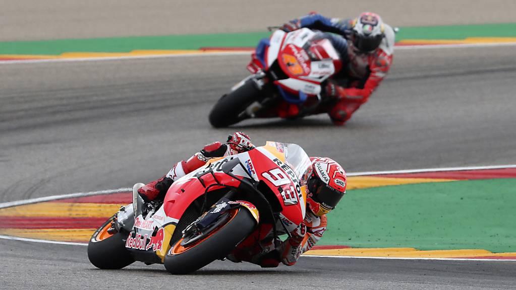 Zog schon nach wenigen Kurven unwiderstehlich weg: der spanische MotoGP-Star Marc Marquez