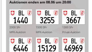 Seit Mai 2013 können Private ihre Schilder auf der Online-Auktionsplattform der Motofahrzeugkontrolle versteigern.