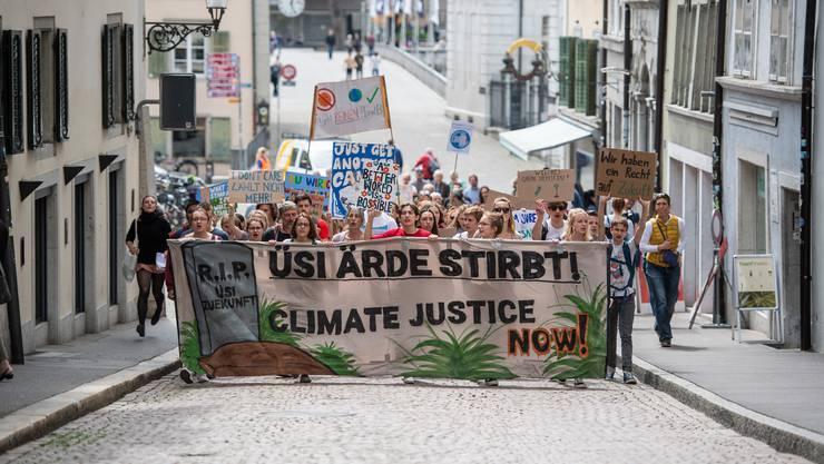 Dass der Jugend das Klima am Herzen liegt, zeigt sich nicht nur an Demos wie im Mai in Solothurn.