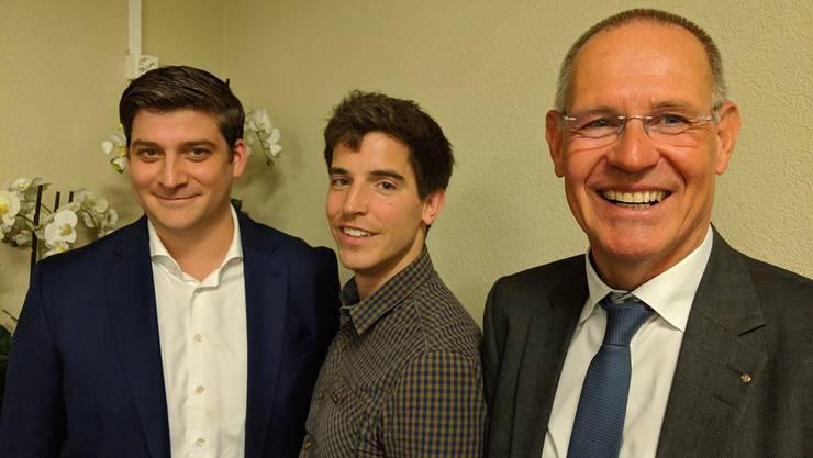 David Plüss, Reto Grolimund und Stefan Nünlist (v.l.n.r) freuen sich bereits jetzt auf den Wahlkampf.