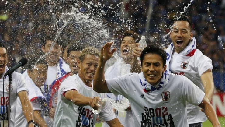 Freude über das WM-Ticket bei Japans Fussballern