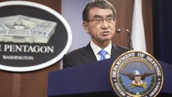 Japan plant in Zusammenarbeit mit den verbündeten US-Streitkräften ein umfassendes Weltall-Beobachtungssystem. Laut Verteidigungsminister Taro Kono soll die neue Einheit 2023 voll in Betrieb gehen. (Archivbild)