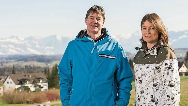 Arne und Martina Rohweder wohnen in Egg ZH.