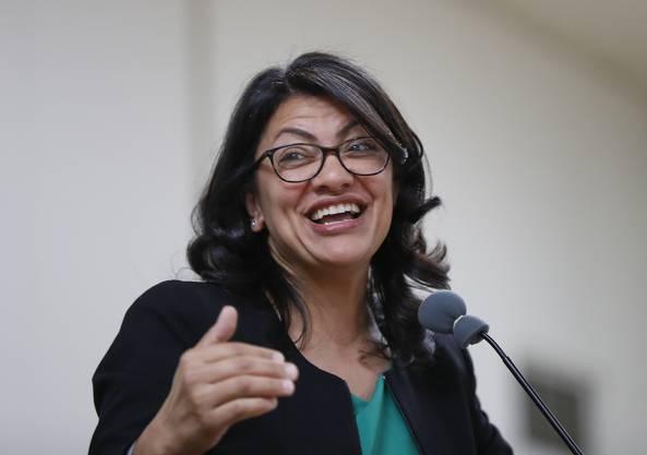 Rashida Tlaib: Die demokratische Sozialistin mit palästinensischen Wurzeln sitzt seit Januar im US-Repräsentantenhaus.