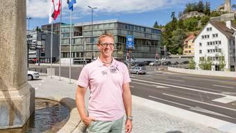 Der neue Schulhausplatz in Baden ist vollendet: Marcel Voser freut sich auf die nächsten Projekte.