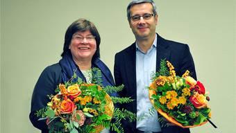 Die beiden Stadtratskandidaten der FDP: Monique Rudolf von Rohr und Benvenuto Savoldelli.