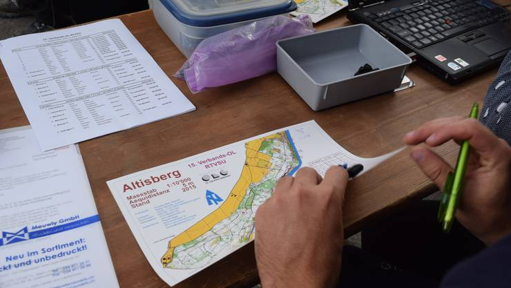 Der Altisberg in Biberist: Diese Strecke mussten die Teilnehmerinnen und Teilnehmer des Verbands-OL des RTVSU laufen
