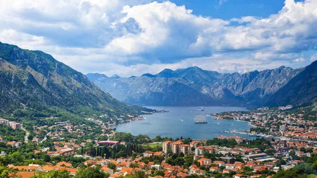 Die Bucht von Kotor, Montenegro.