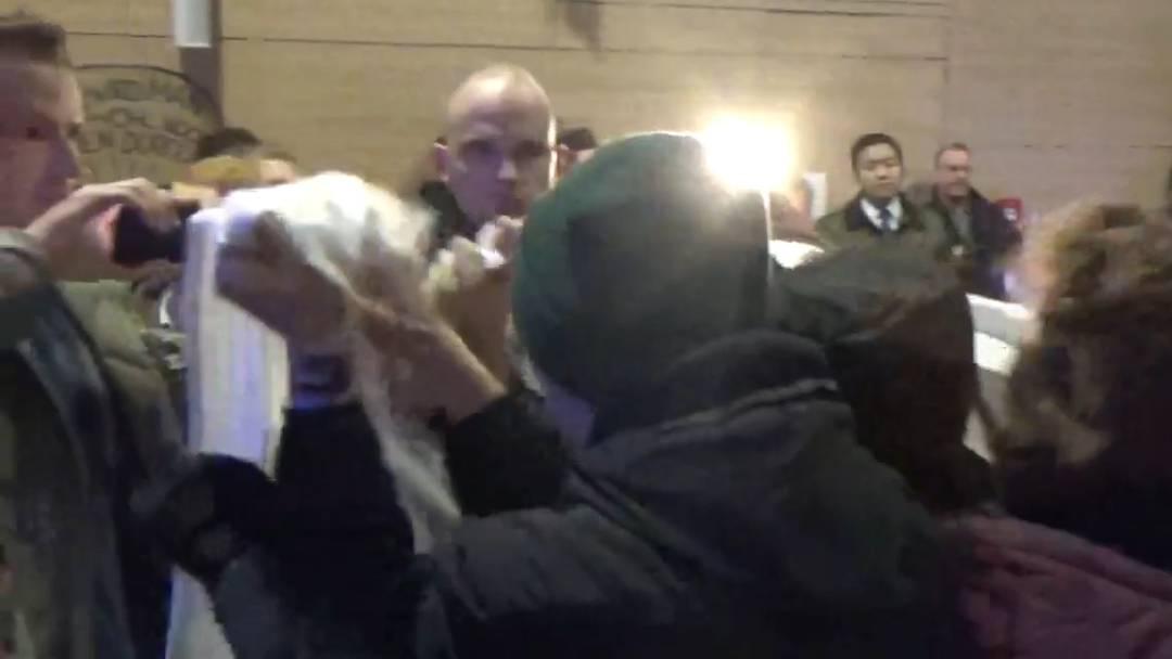 Tumulte im Hörsaal: Video der Anifaschistischen Aktion.