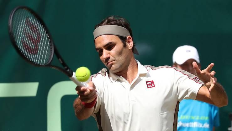 Im Vorteil: Roger Federer wird höchstwahrscheinlich erst im Final auf Novak Djokovic oder Rafael Nadal treffen.