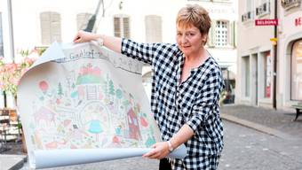 Andrea Hauner wirkt seit vielen Jahren mit bei der Organisation des Gauklerfestes in Lenzburg. Sie war vorher Journalistin in Deutschland. Mario Heller