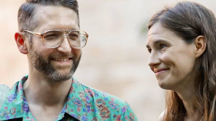 Suchen Spender für ihre galaktische Hochzeit: Amanda Knox (rechts) und ihr Verlobter Christopher Robinson. (Archivbild)