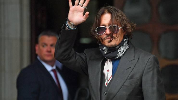 US-Schauspieler Johnny Depp trifft am High Court in London ein. Foto: Victoria Jones/PA Wire/dpa