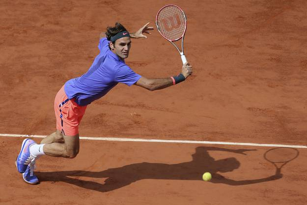 Roger Federer am French Open in Paris, 2. Juni 2016
