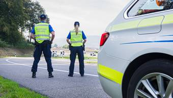 Geschwindigkeitskontrolle der Kantonspolizei Aargau.