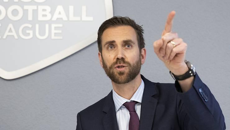 Der Spielplan für die Weiterführung der Super League vom 19. Juni bis zum 2. August steht (im Bild Claudius Schäfer, CEO Swiss Football League)