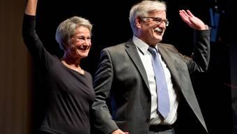 Annelies und Marcel Guignard verabschieden sich.