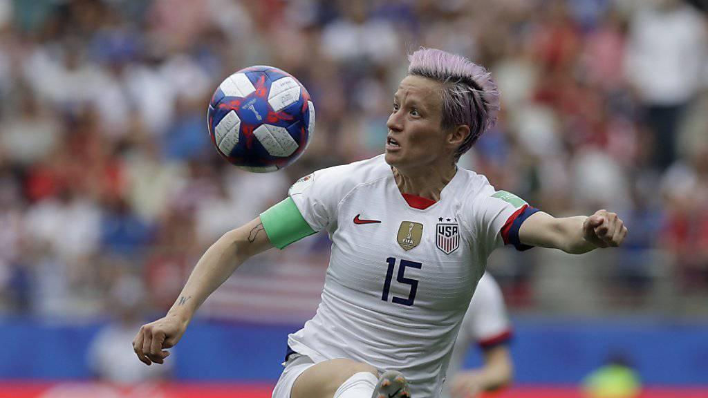 Megan Rapinoe, Captain des US-Nationalteams, verwandelte beide Penaltys zum Achtelfinal-Sieg über Spanien