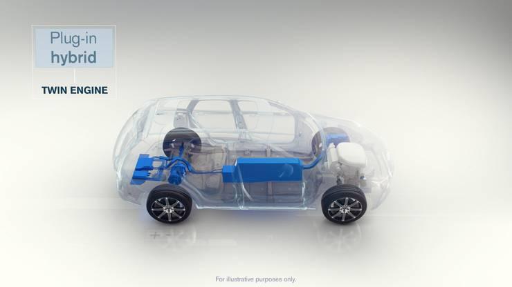 Mehr Strom: Der Plug-in-Hybrid kann rund 50 Kilometer rein elektrisch fahren und an der Steckdose geladen werden. Zusätzlich sorgt ein Verbrennungsmotor für den Antrieb - und für gute Reichweite.