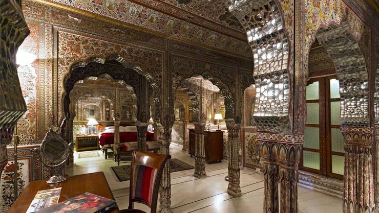 Die Zimmer im «Samode Palace» überfordern zuweilen die Sinne der Gäste. HO