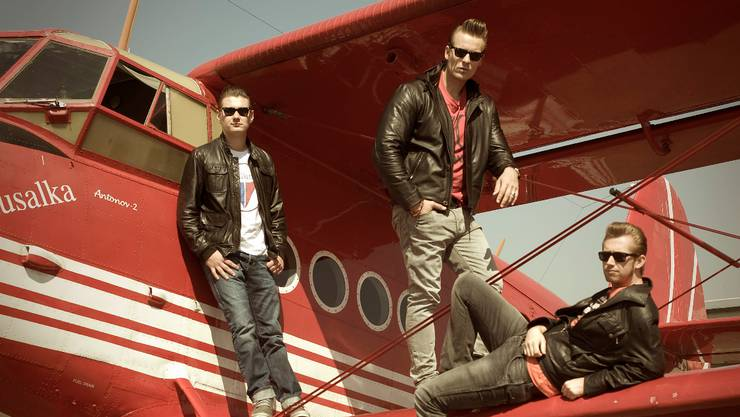 Die deutsche Rock'n'Roll-Band The Baseballs