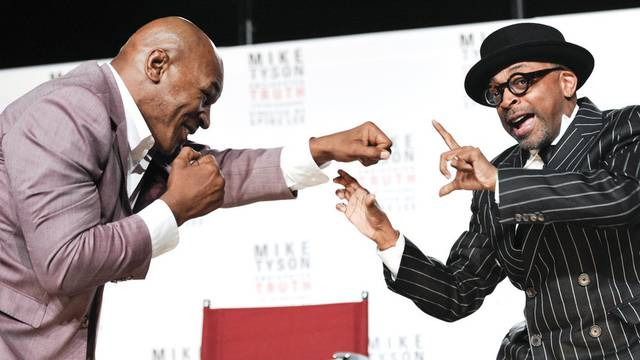 Der ehemalige Box-Champion Mike Tyson (links) mit dem Regisseur Spike Lee in New York