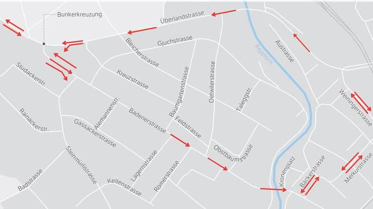 Dieser Grosskreisel gilt in Dietikon-West von Mitte 2019 bis Frühling 2022