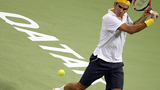 Roger Federer in Doha im Halbfinal