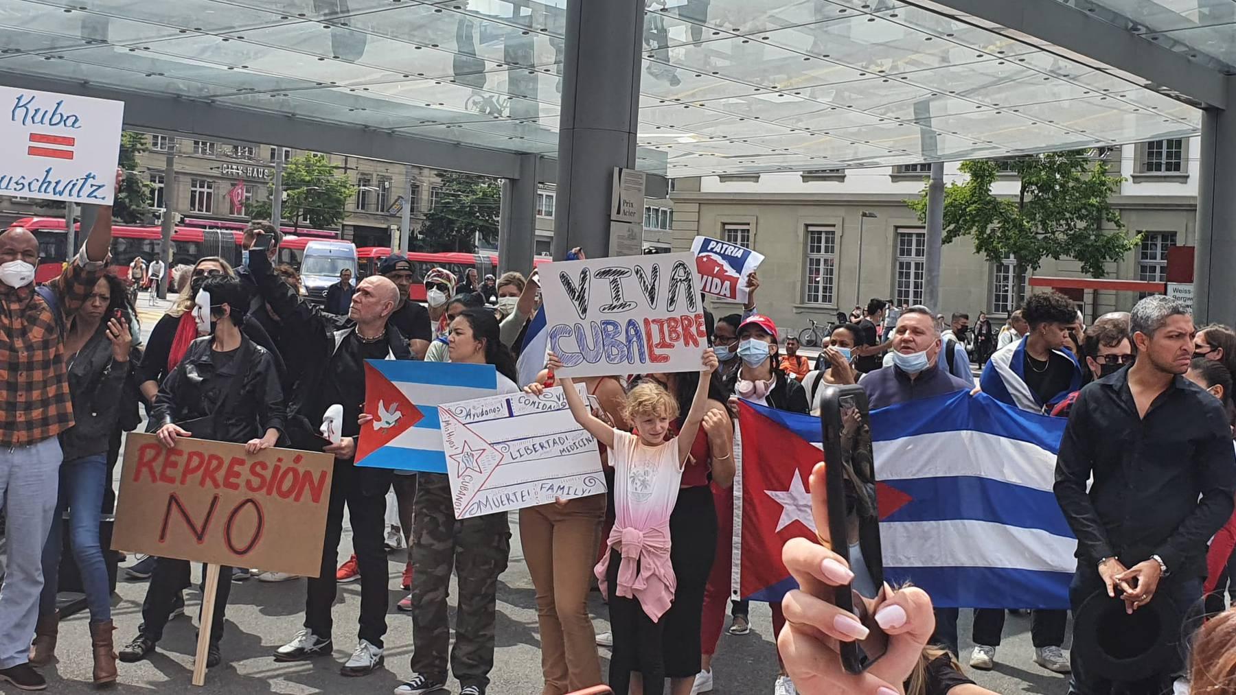 Demonstration Kuba in Bern (7)