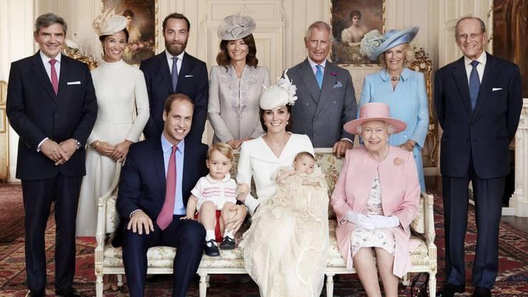 Das offizielle Tauffoto der königlichen Familie.