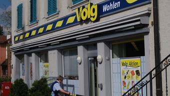 Bereits 2010 überfallen: Der Volg-Laden an der Friedhofstrasse in Wohlen.