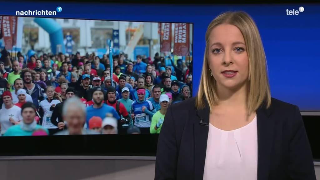 Flüchtlingsgruppe am Marathon